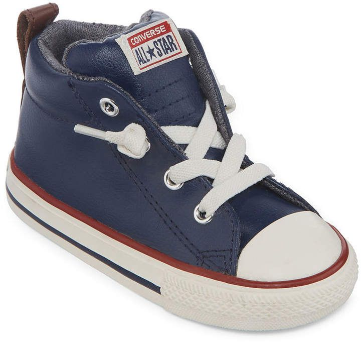 b010f5880152 Converse Chuck Taylor All Star Street Leather And Fleece Mid Boys Sneakers  - Toddler