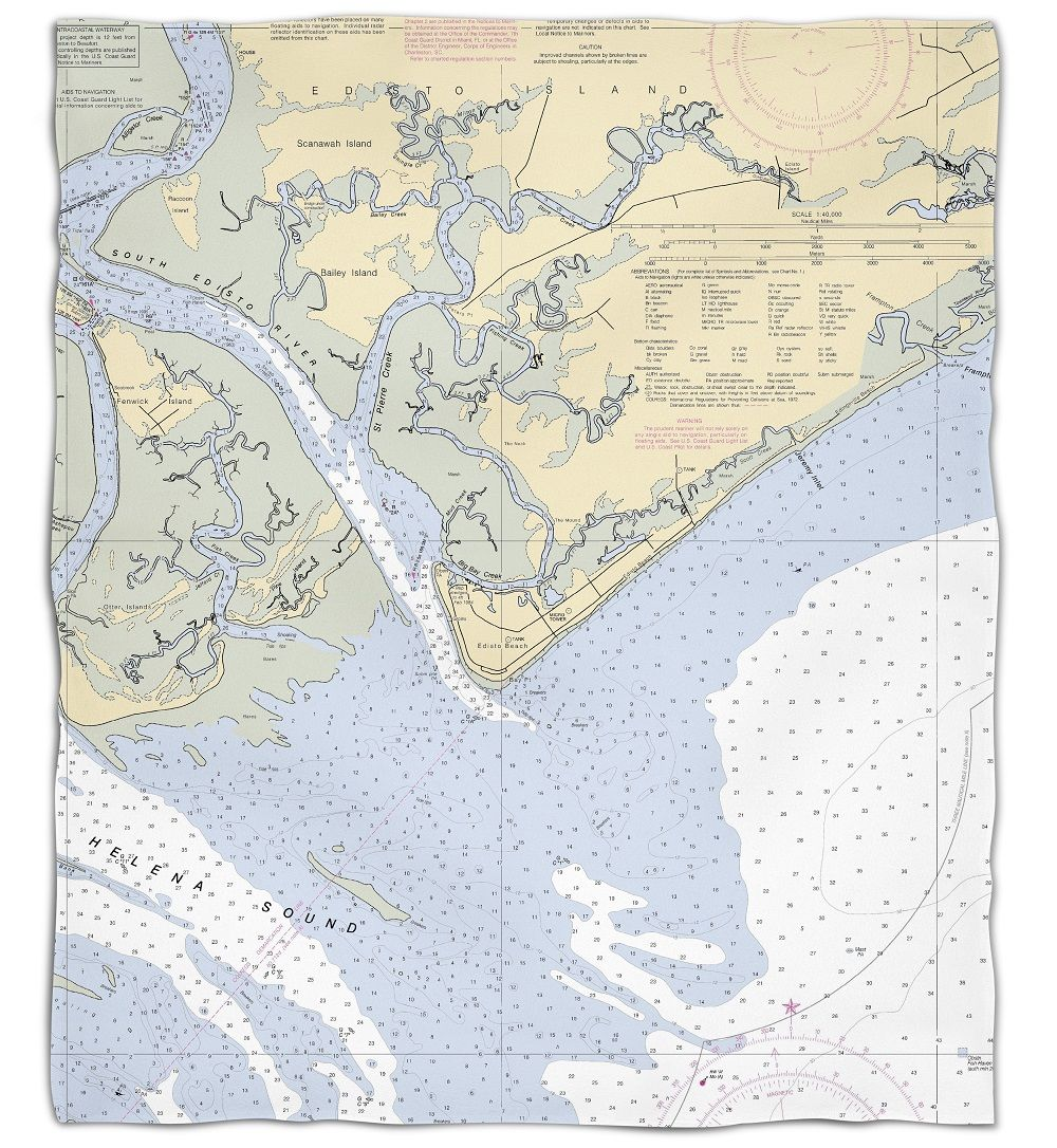Sc edisto beach sc nautical chart silk touch throw blanket sc edisto beach sc nautical chart silk touch throw blanket geenschuldenfo Gallery