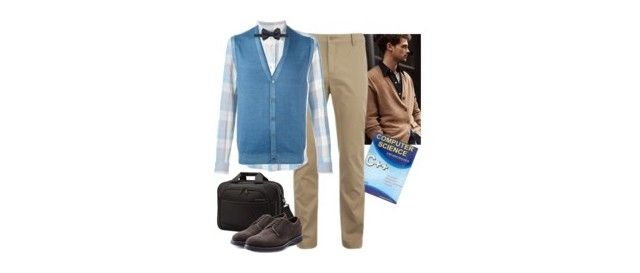 """my jaw is on the floor"" by chellhart ❤ liked on Polyvore featuring Samsonite, CO, Lacoste, Brioni, Levi's, Barba, Tom Ford, men's fashion, menswear and murdamystery"