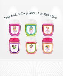 Cute Shopkins Bath Body Works Pocketbac Hand Sanitizer Birthday