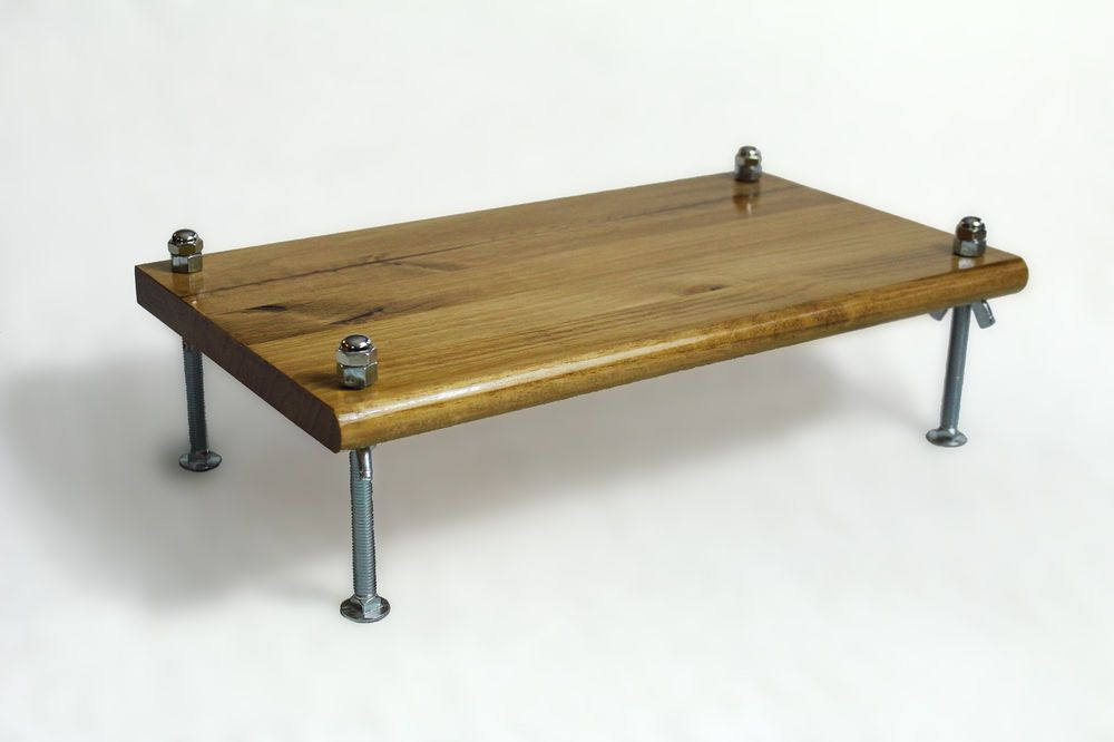 Monitor Stand Wood Bolts Legs Printer Stand Desk Furniture Wood Shelves