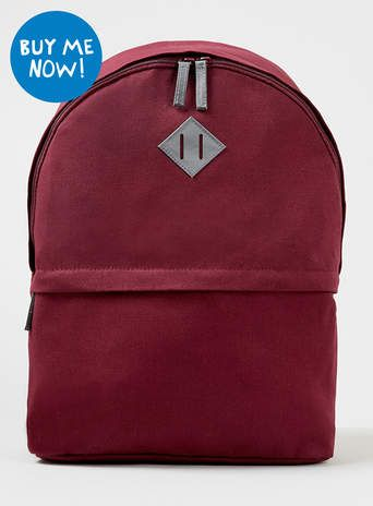 3a0cf98339 Burgundy Plain Backpack