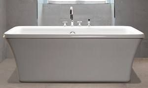 Rectangle 66 X 36 Freestanding Soaking Tub With A Textured Bottom Mbofs6636 Has Wide Rim On Drain Side To Accommodate Deck Mounted Faucet
