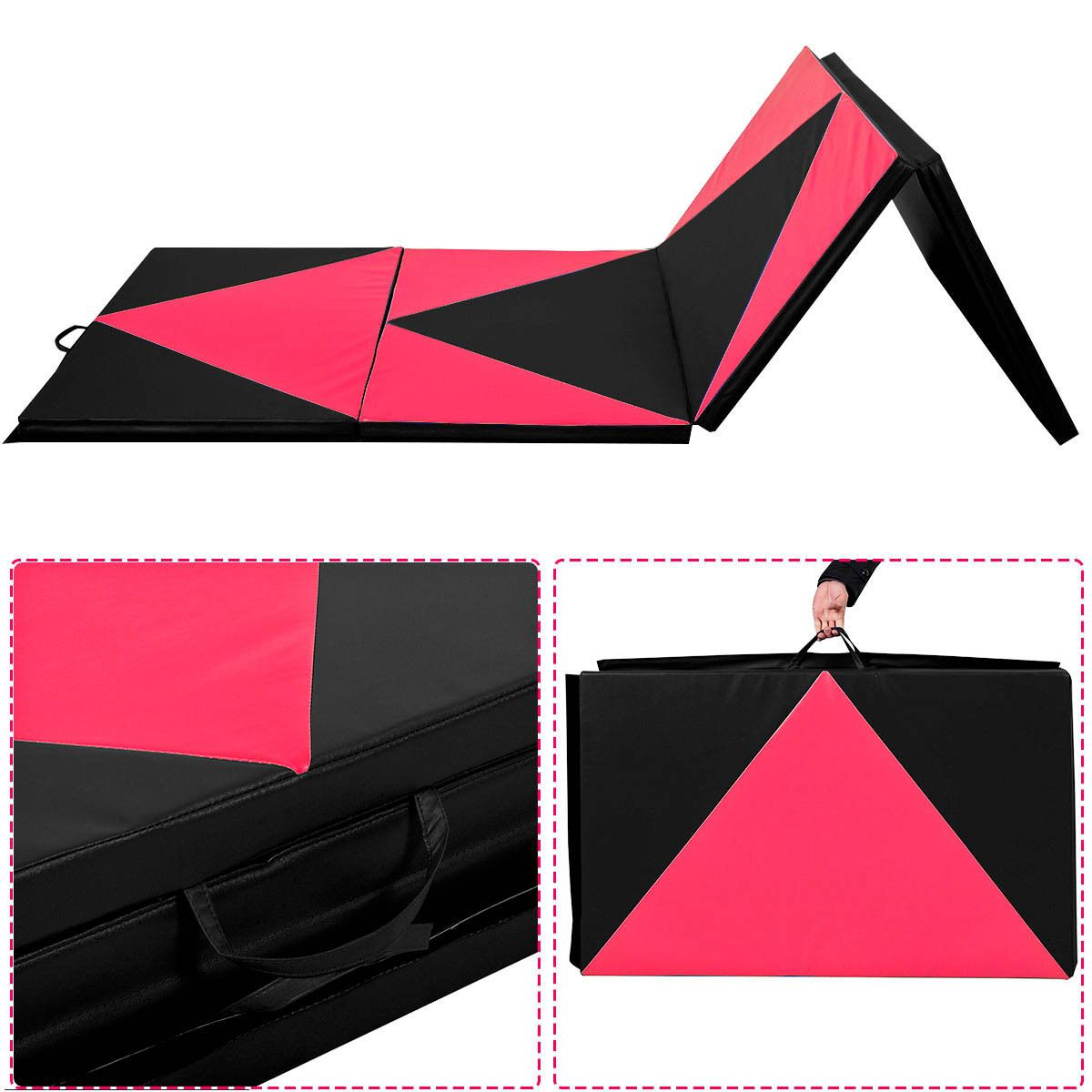 4 X10 X2 Fold Exercise Yoga Gymnastics Mat Pu Soft Tumble Play Crash Safety View More On The Link Http Www Zep Gymnastics Mats Gym Mats Best Trampoline