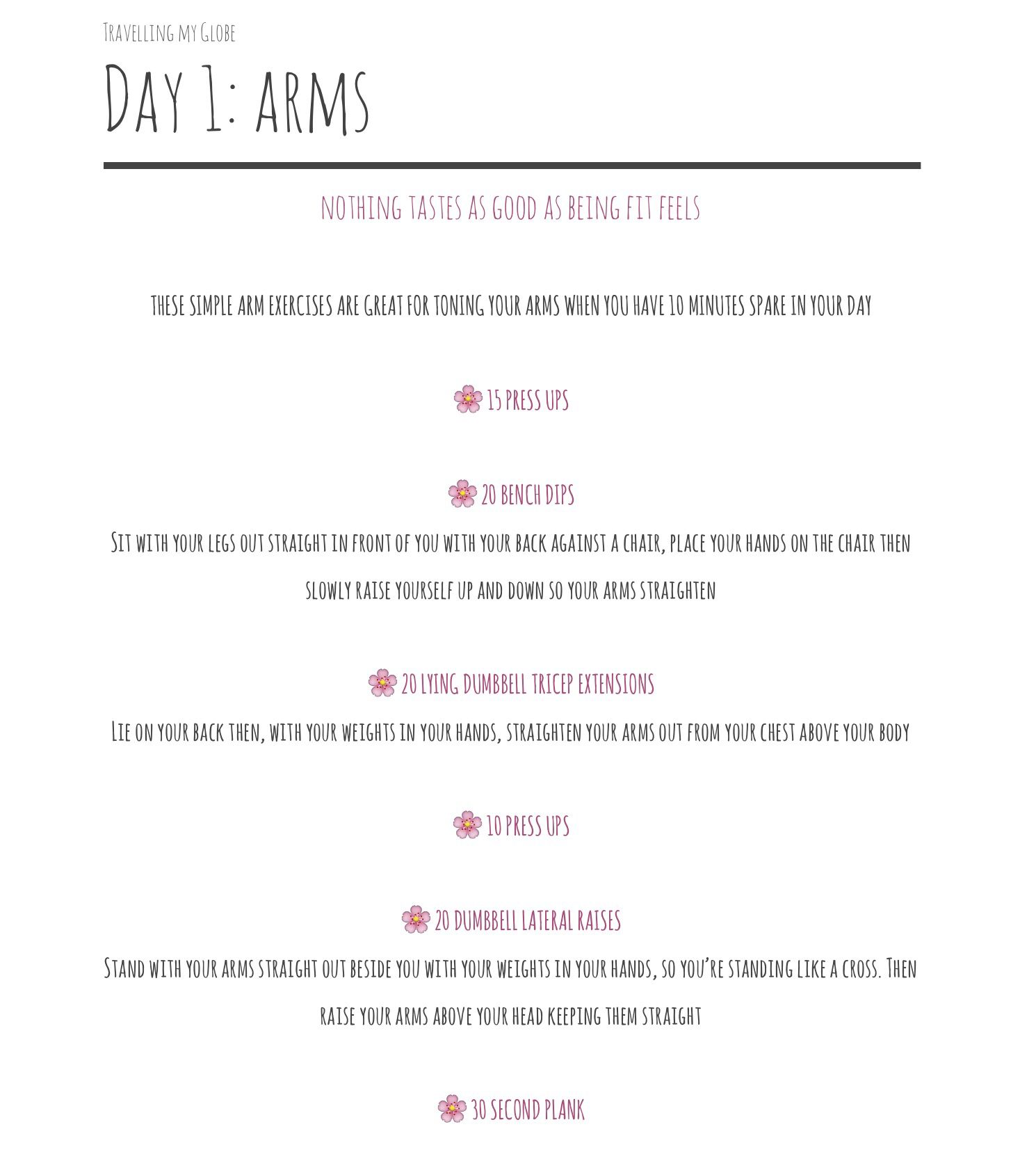 This is a super easy workout for arms. Click the link below to get your own free printable version!   https://docs.google.com/document/d/1w3OgV3xpdX-LXG0KXRhG6W_ykgHlVOH4jKcCH8mr3EQ