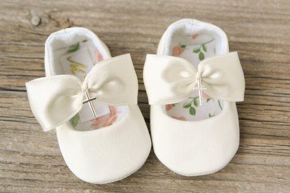 08b08a47a Blanco de bautismo marfil zapatos cross zapatos de bebé Zapatos Casuales