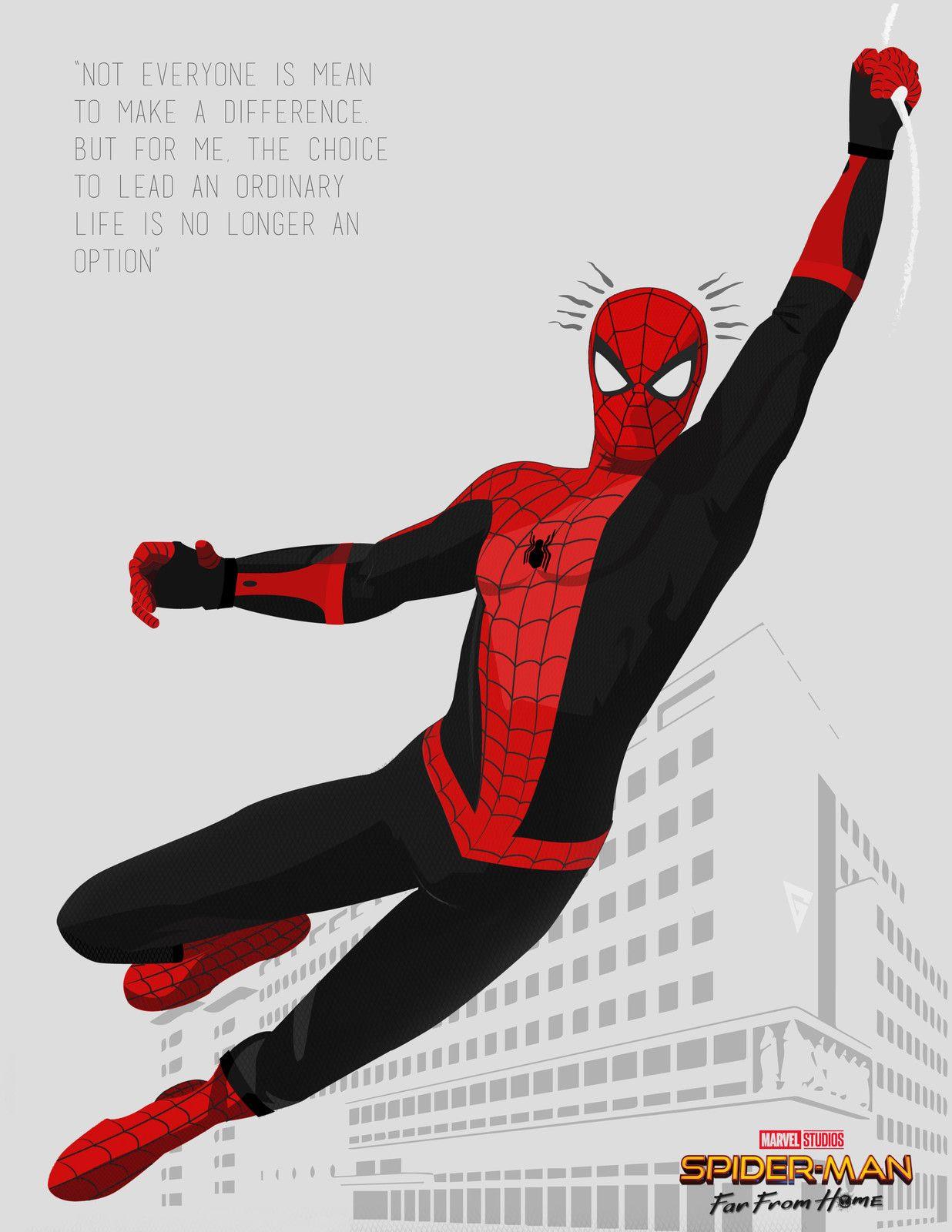 Spiderman Far From Home Absolute Graphix On Artstation At Https Www Artstation Com Artwork A99qbq Spiderman Spiderman Comic Spiderman Drawing