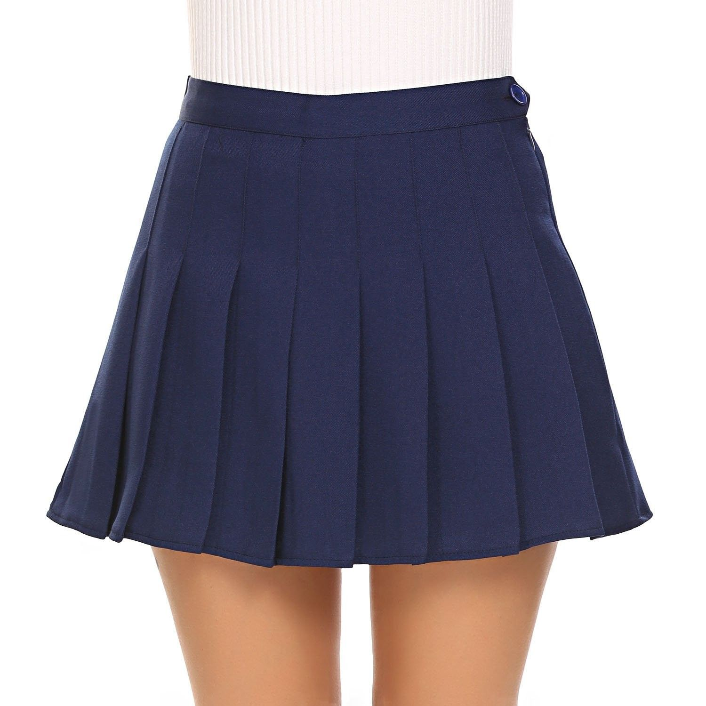 Summer Women/'s Casual Tennis Shorts High Waist Flared Pleated Mini Skirt S M L