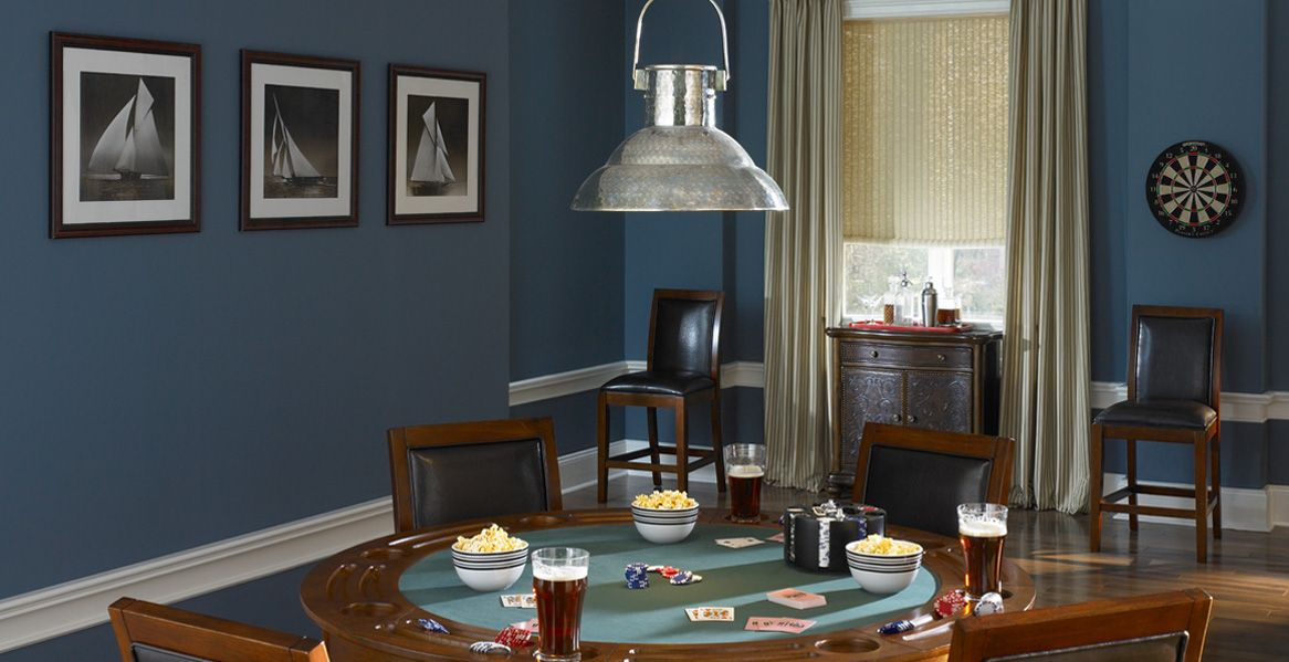 Find This Pin And More On Decorating Ideas Living Family Room Smokey Blue From Behr Paint