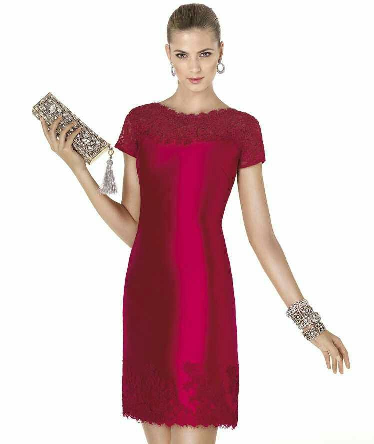f684492255edf Vestido rojo de encaje modelo 6651 de It s My Party by It s My Party ...