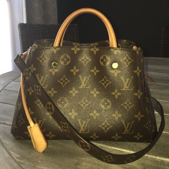 Auth Louis Vuitton Montaigne BB Mini Micro Bag LV Not selling ae3d7de66c5b2