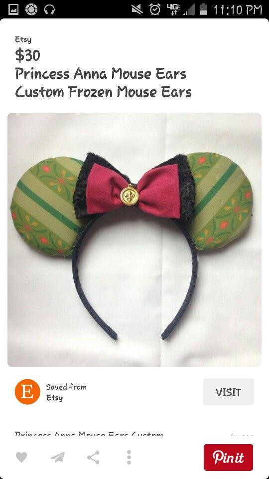 Anna ears! | disneyland! | Pinterest