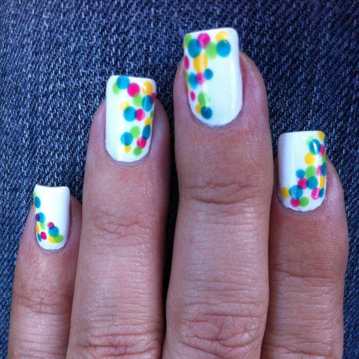 Gumball inspired nail art design