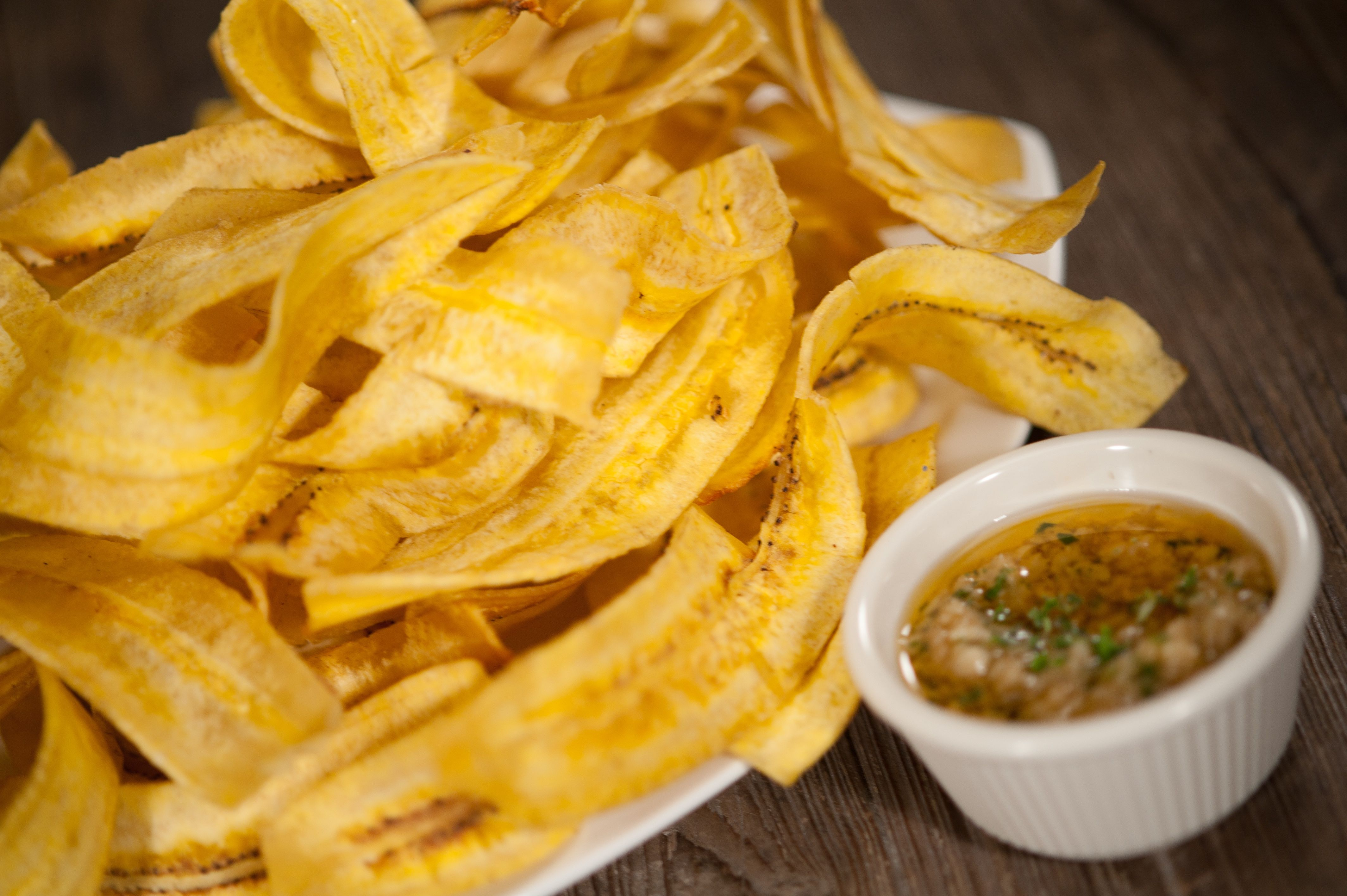 Mariquitas con Mojo - Homemade plantain chips served with Havana\'s ...