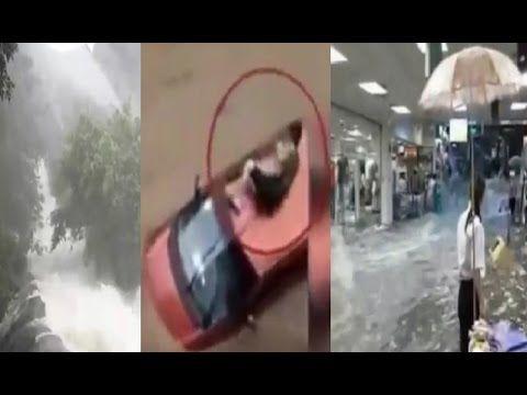 Banjir Dan Longsor Di Cina Ngeri Banget Sampai Masuk Mall Dan Nyaris Tim...