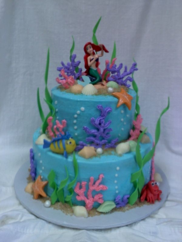 Ariel And Friends Birthday Cake With Images Little Mermaid