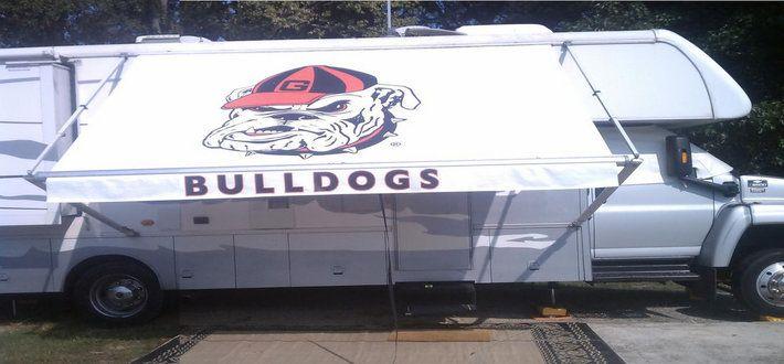 georgia bulldogs rv awning by fun in the shade custom rv awnings