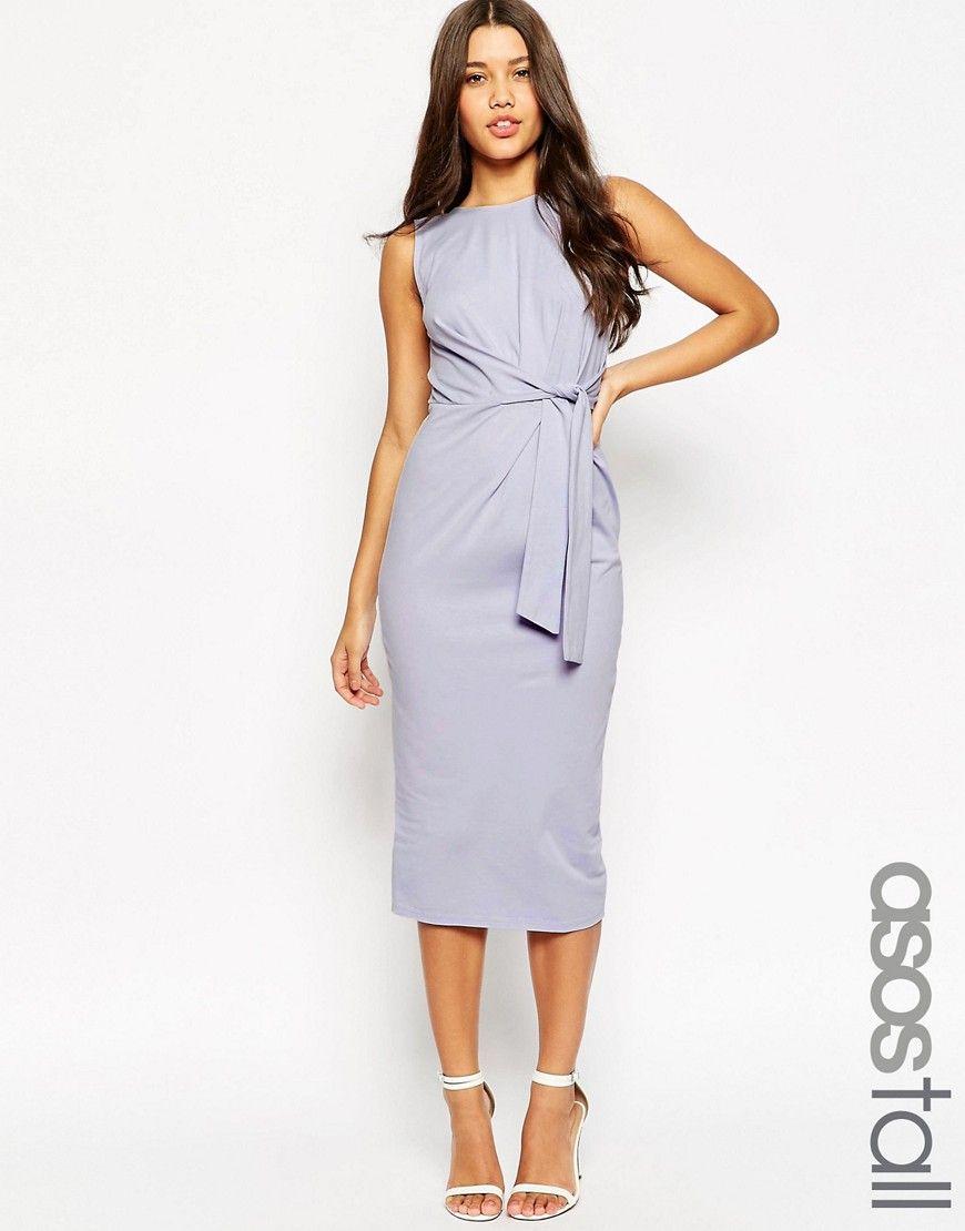 Asos Tall Tie Side Midi Bodycon Dress At Asos Com Midi Dress Bodycon Bodycon Dress Maxi Dress Prom [ 1110 x 870 Pixel ]