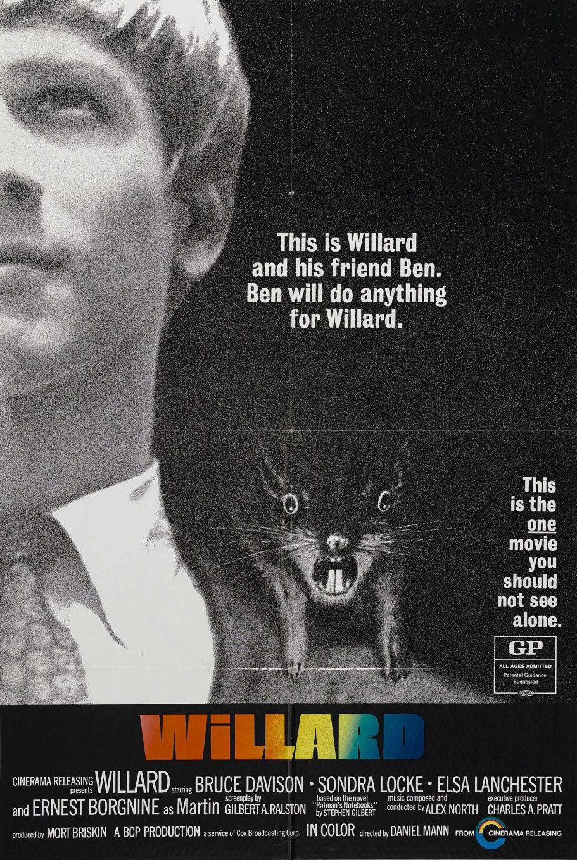 Willard 1971 Starring Bruce Davison Sondra Locke Elsa