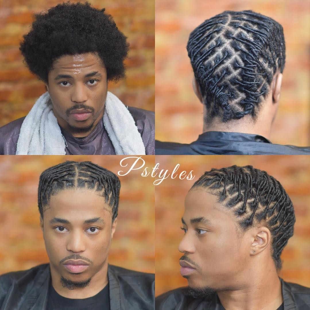 Dmv Pro Loctician Pstyles On Instagram Starter Locs With A Style And Shape U Short Dreadlocks Styles Dreadlock Hairstyles For Men Dreadlock Hairstyles Black