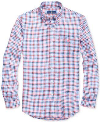 da914d7d Polo Ralph Lauren Men's Classic Fit Plaid Linen Shirt - Red/blue L ...