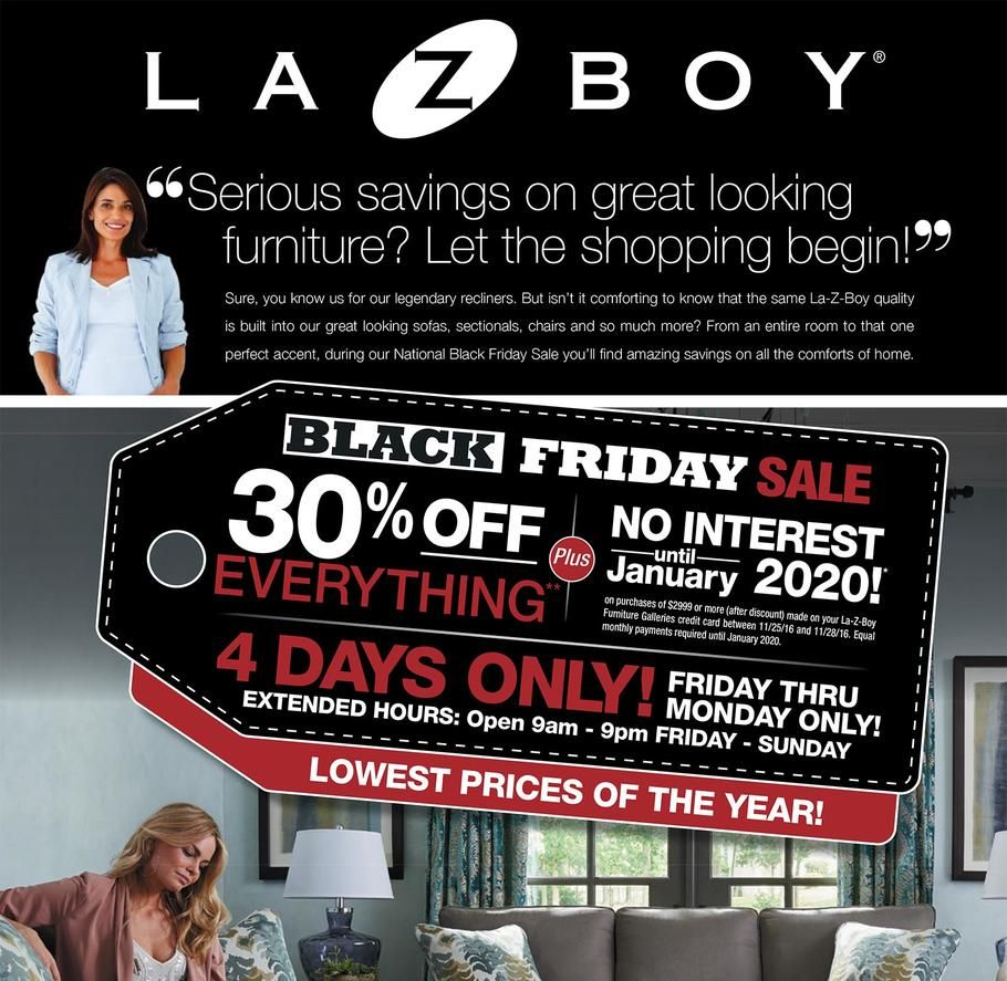 La Z Boy 2019 Black Friday Ad Black Friday Ads La Z Boy Black Friday