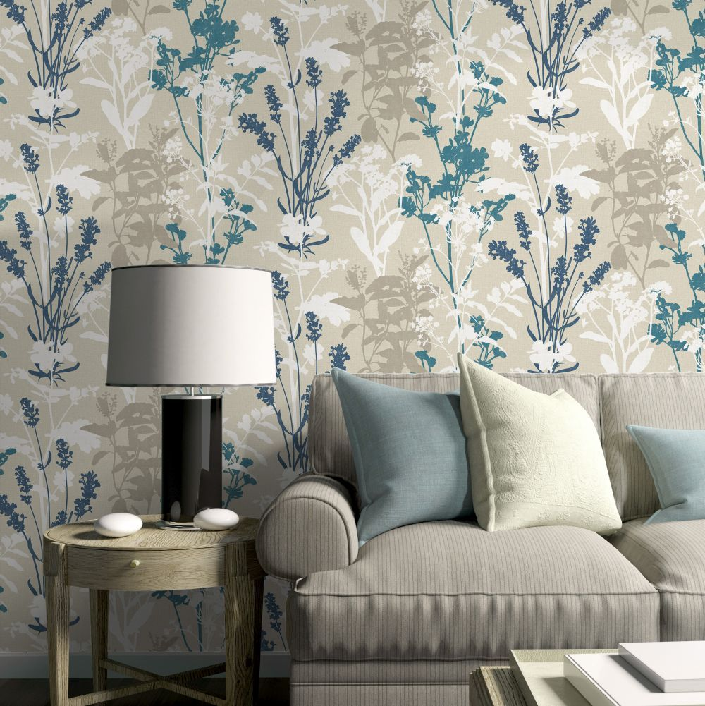 Wild Flowers By Albany Teal Wallpaper Cb42103 Teal