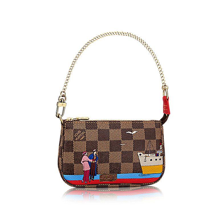 Mini Pochette Accessoires - Damier Ebene Canvas - Handbags   LOUIS VUITTON