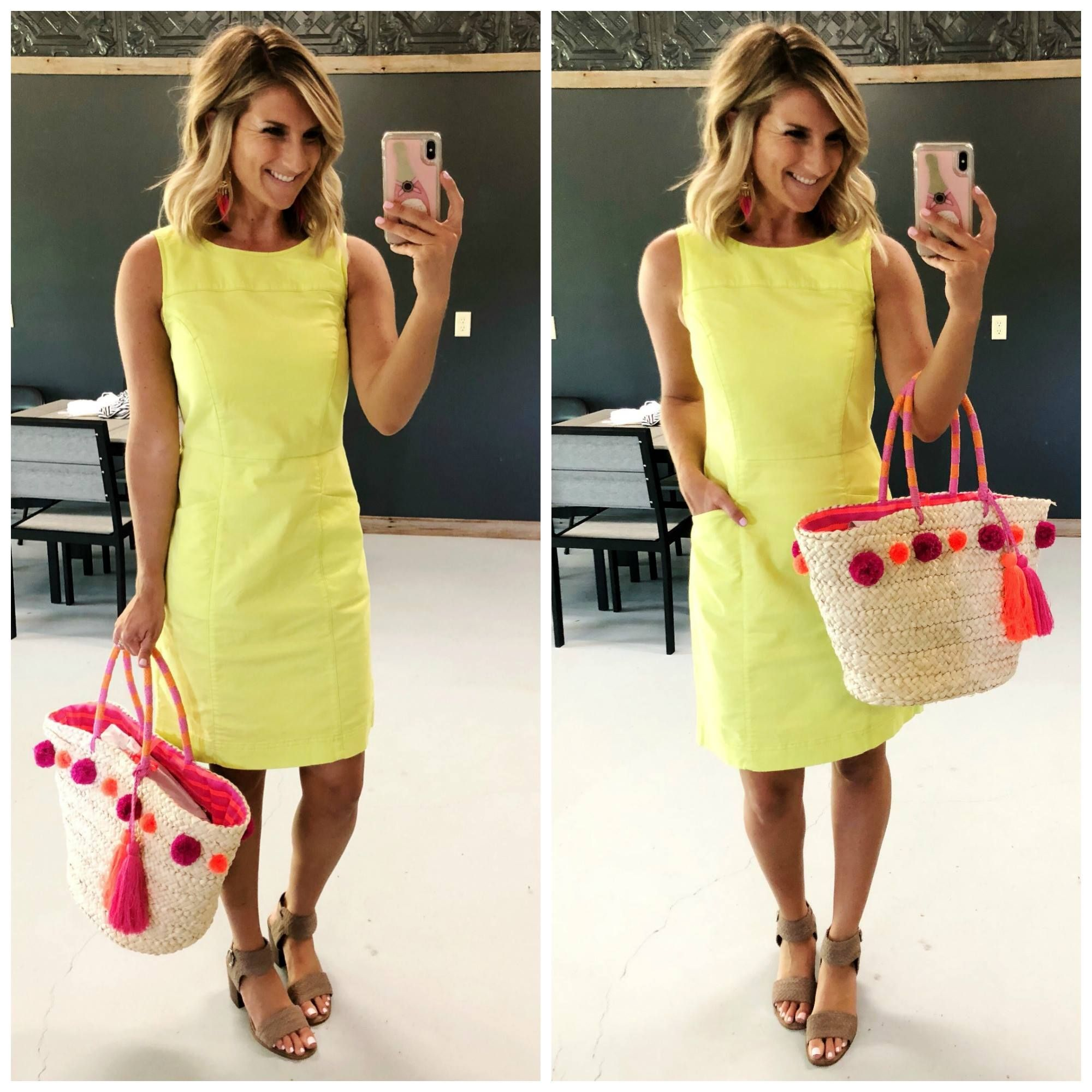12 Summer Outfits To Wear For Work And Play Living In Yellow Dresses For Work Fashion Stylish Women Fashion [ 2000 x 2000 Pixel ]