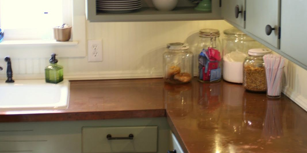 Remodelaholic | Copper Countertops Tutorial; Kitchen Renovation Idea  #Home Decor