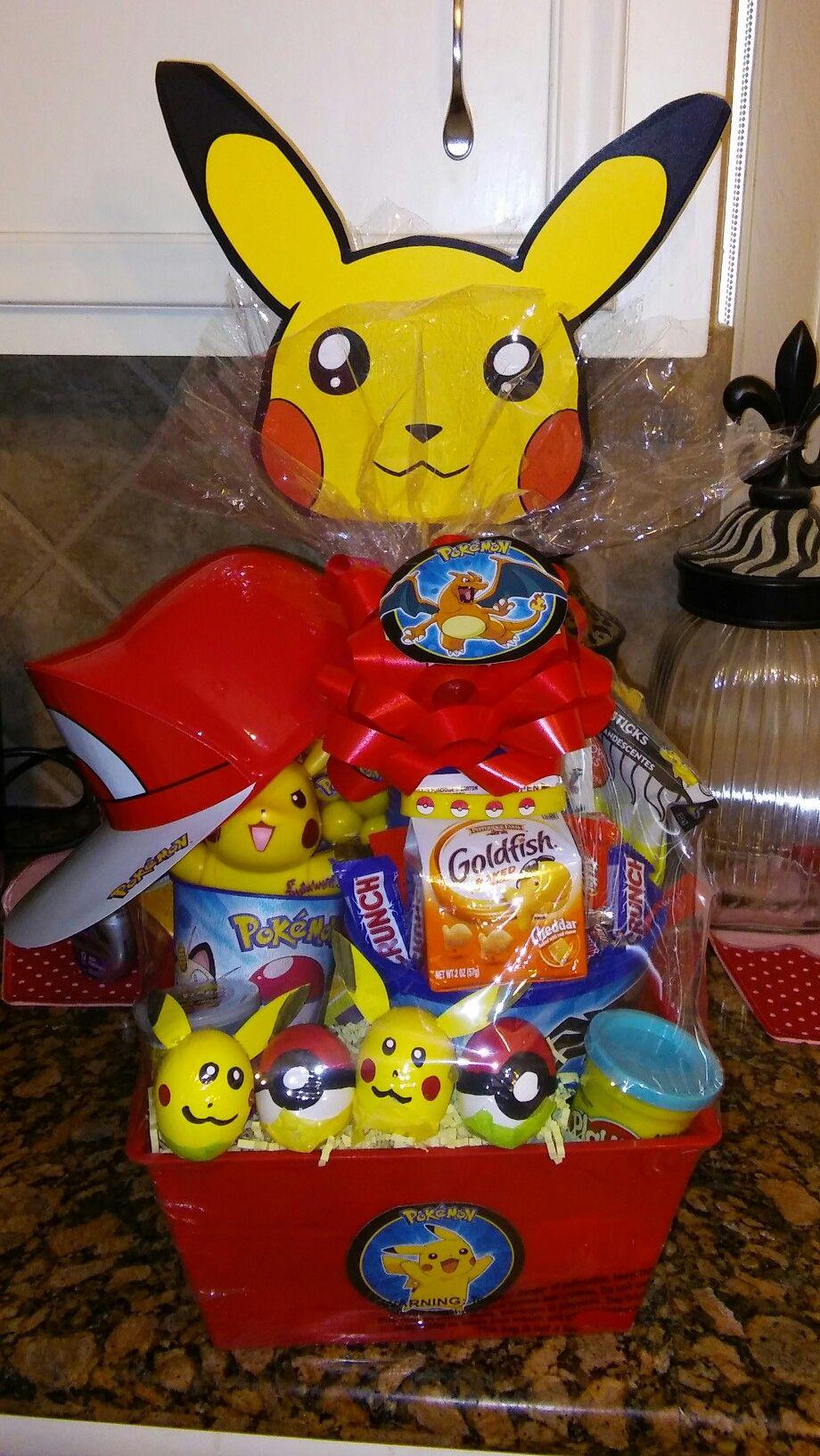Pokemon gift basket gift baskets pinterest easter pokemon gift basket negle Choice Image