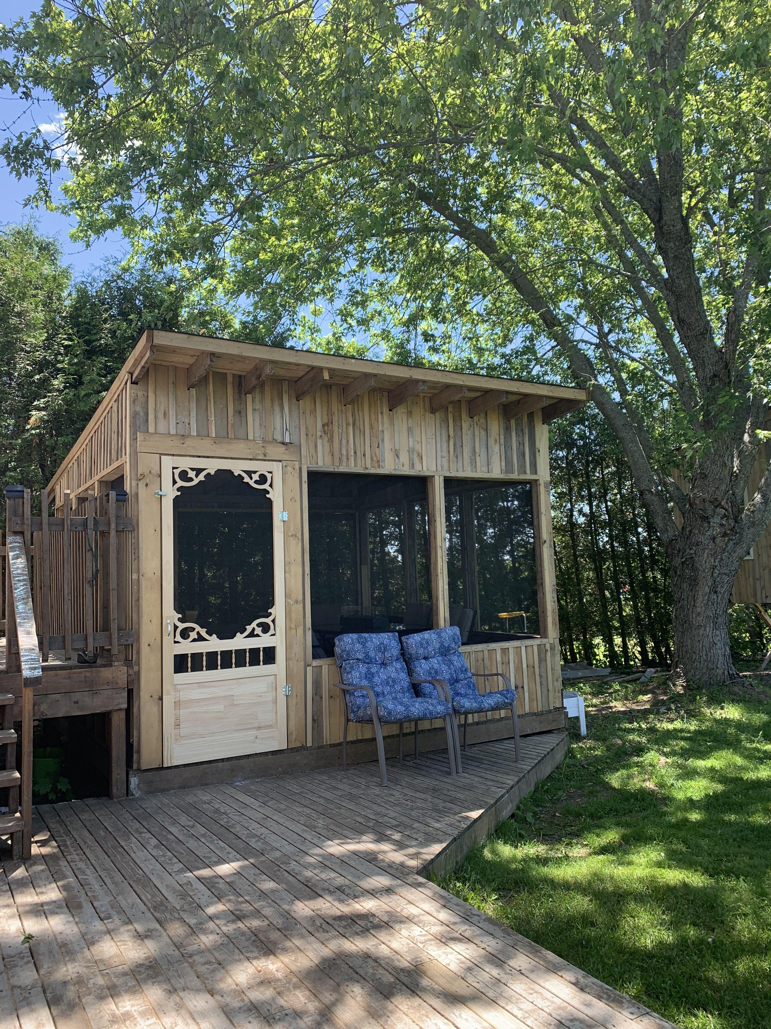 Pallet Gazebo | Gazebo, House styles, Outdoor structures
