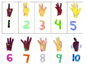 asl numbers 110 worksheets sign language and students