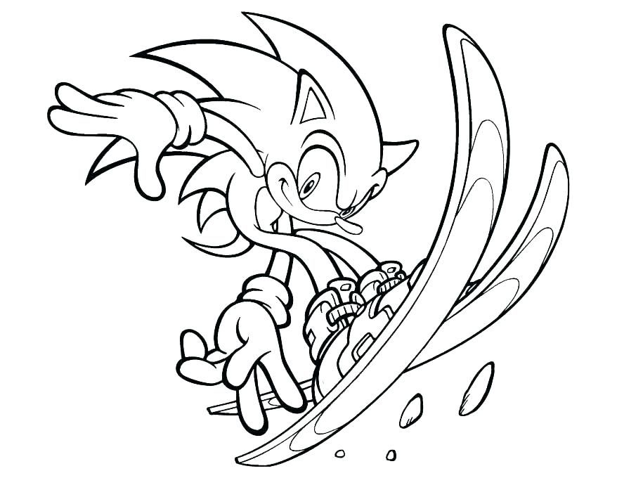 Easy Sonic Coloring Pages Ideas Printable Cartoon Coloring Pages