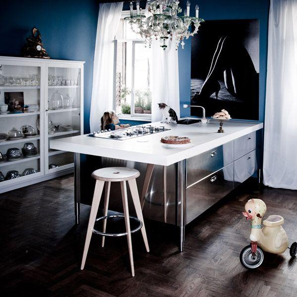 Cucine free standing: Cucina [a] da Alpes Inox | Casa | Pinterest ...