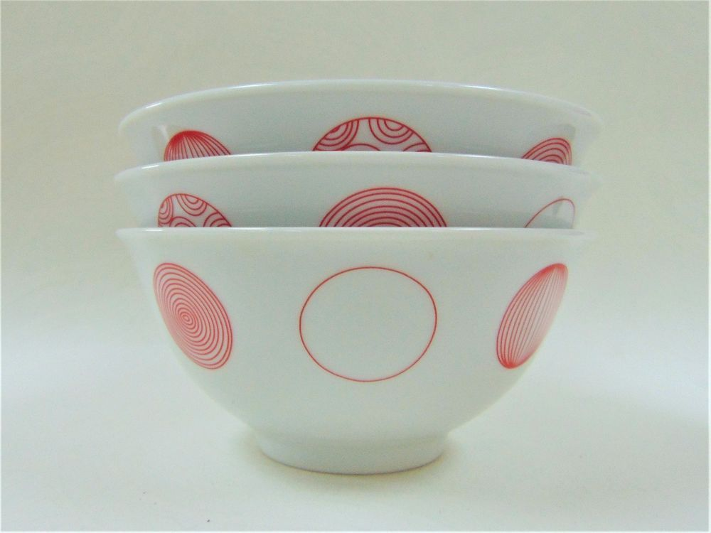 John Lewis Red Circle Motif Serving Bowls Set Stylish Christmas Tableware & John Lewis Red Circle Motif Serving Bowls Set Stylish Christmas ...