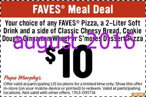 photograph about Papa Murphy's Coupon Printable known as Totally free printable discount codes papa murphys discount coupons Artofit