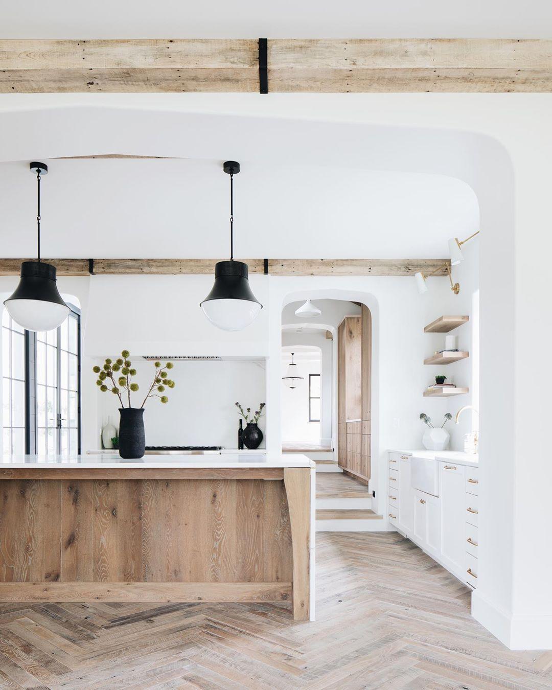 9 Ways to Work a Wood Island in a White Kitchen
