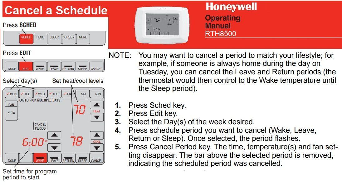Honeywell rth8500 in 2020 honeywell programmable