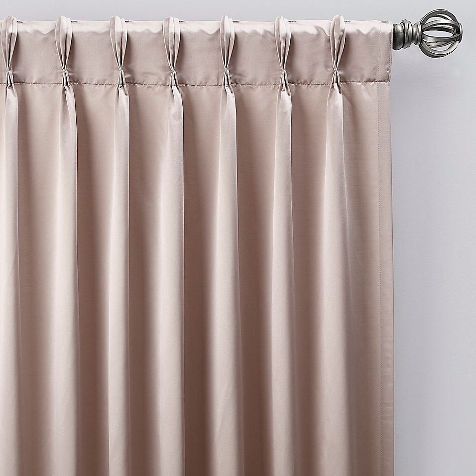 Pinch Pleat Window Curtain Panel