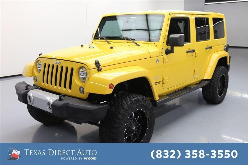 eBay Jeep Wrangler Sahara Texas Direct Auto 2015 Sahara