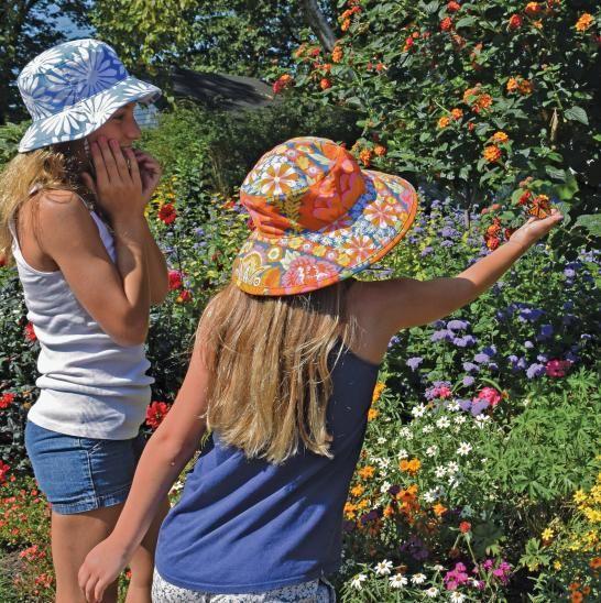 ebd92f04daa160 Bohemian Garden Print Sun Protection Sun protection hats by Puffin Gear are  perfect for enjoying the