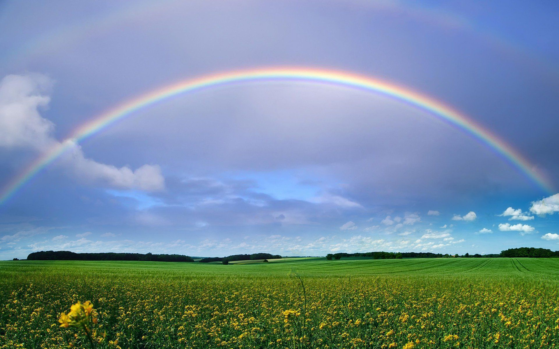 Beautiful Double Rainbow (Hi Res Photo Wallpaper ... |Double Rainbow Wallpaper