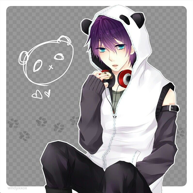 Cute panda boy boy hair drawing cute panda sexy anime guys