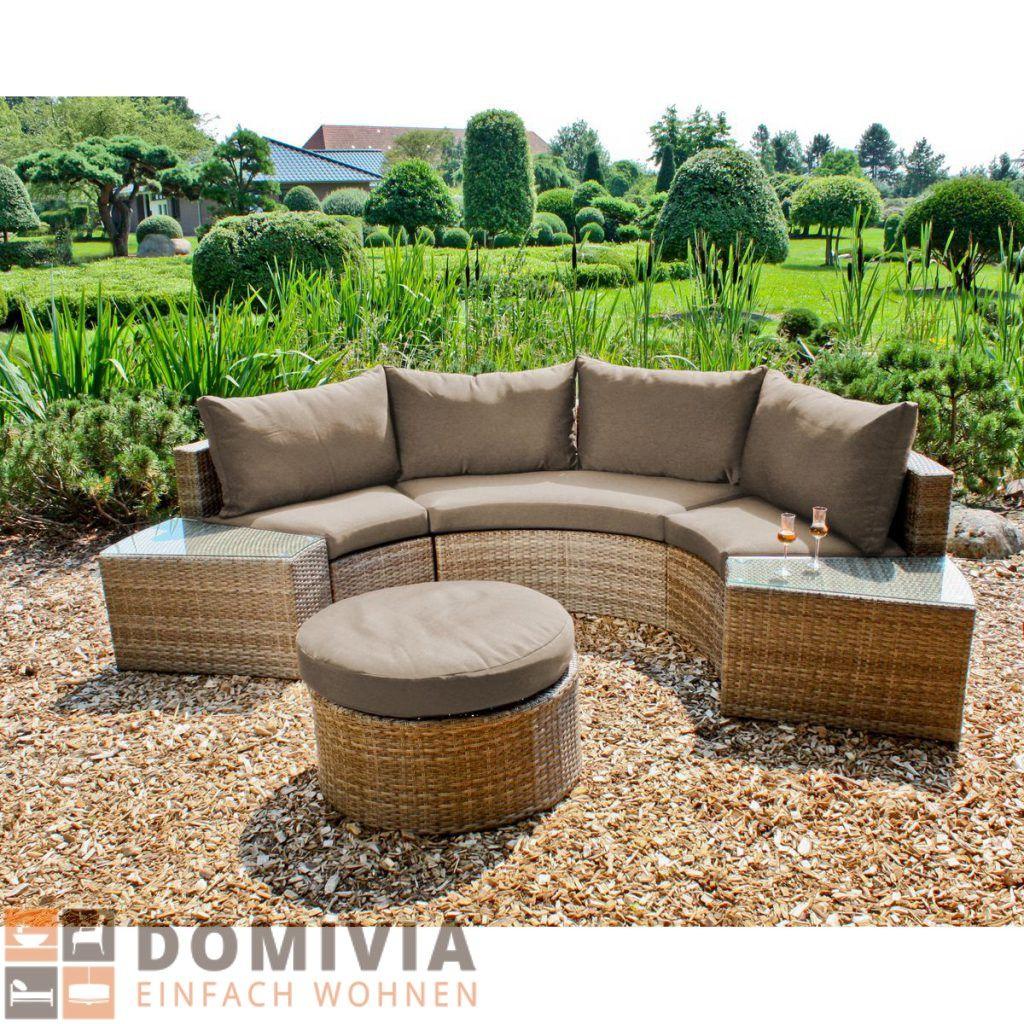 Sofa Talavera Halbkreisförmig Sitz Lounge Garten Sitzgruppe