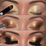 beautiful gold eye shadow