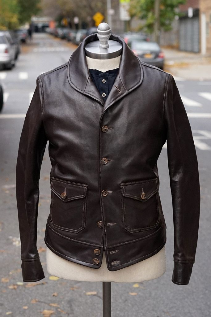 b6d06ec8d Epaulet x Thedi Leathers Shawl Collar Horsehide Bomber | My Style in ...