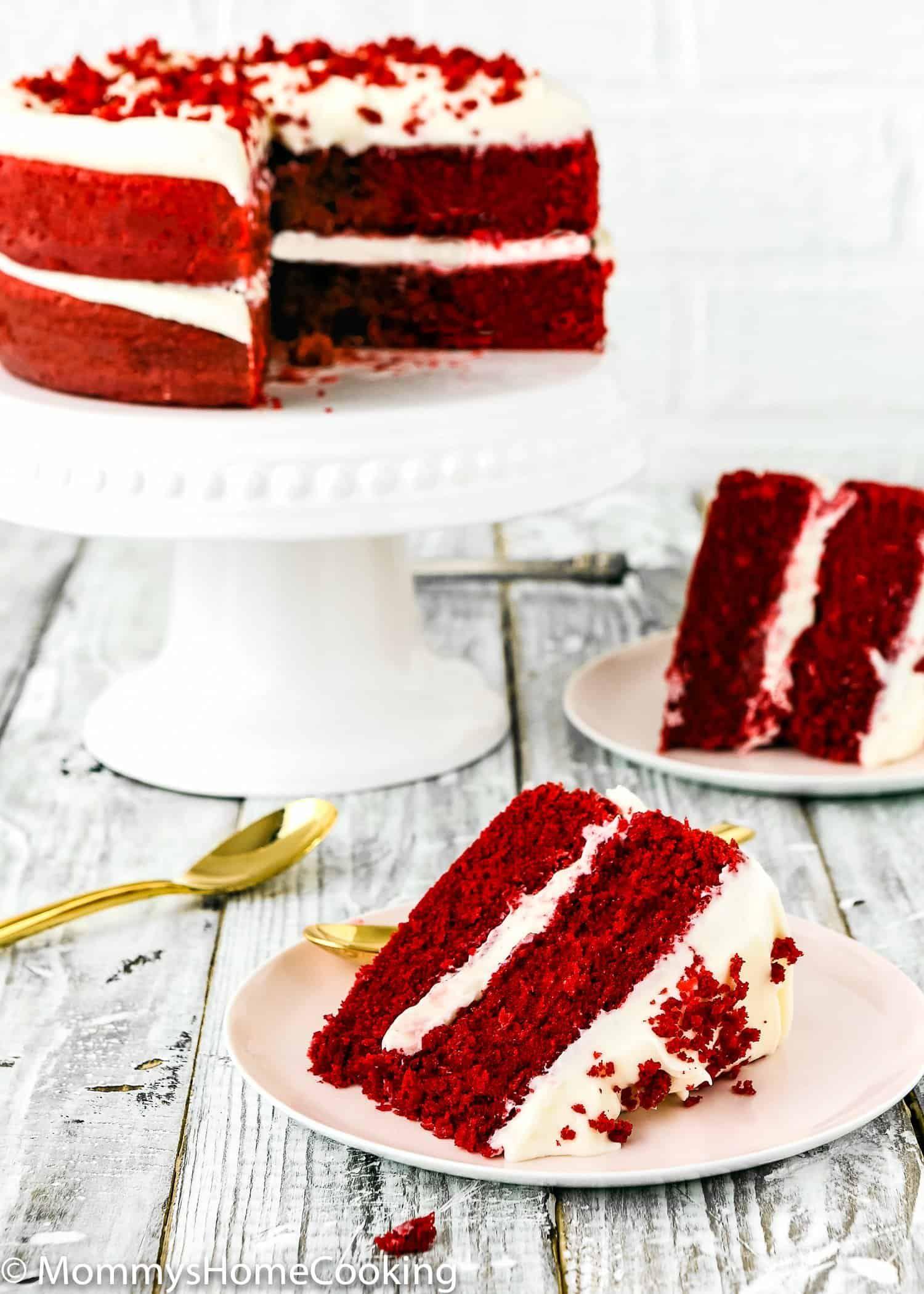 Eggless Red Velvet Cake Recipe In 2020 Velvet Cake Recipes Eggless Red Velvet Cake Red Velvet Cake Recipe