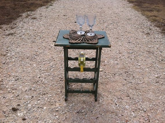 Wood Wine Rack - Wine Glass Holder - Rustic Table - French Country Decor - Farmhouse Table on Etsy, $49.95