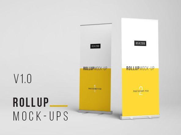 Rollup Mockup 80x200cm Mockup Brochure Mockup Psd Square Brochures